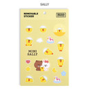 Sally - Monopoly Brown friends removable deco sticker