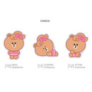 Choco - Monopoly Brown friends big point removable sticker