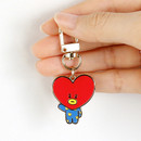 Front - BT21 Simple metal keyring