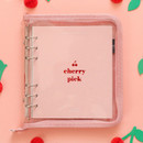 Cherry pick zipper closure 6-ring dateless weekly planner