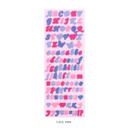 Cool pink - After The Rain Butterfly twinkle Alphabet sticker seal