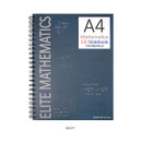 Navy - 2young Elite Mathematics half perforated line blank notebook