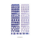 Hydrangea - After The Rain Silver line Alphabet deco sticker