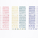 After The Rain Silver line Alphabet deco sticker
