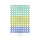 Face 04 - PAPERIAN Color palette face deco sticker set