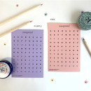 02 Pink Purple set - gyou Compound Alphabet deco sticker set