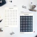 03 White Black set - gyou Compound Alphabet deco sticker set