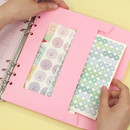 Pink -  PAPERIAN Window paper envelope 6-ring A5 size refill ver2