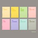 Color - PAPERIAN Color cardstock paper 6-ring A5 size refill set