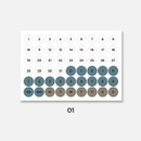 01 - GMZ The Memo my transparent deco Monthly sticker