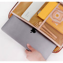 """Side pocket - Tailorbird embroidered 13"""" laptop PC zip sleeve pouch ver5"""