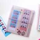 Elastic band closure - Jam Studio Moa Moa slip in pocket sticker seals book album