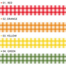 Color - Wanna This Picnic check 15mm X 10.9yd masking tape