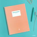 Orange - Indigo Prism 56 spiral bound B5 lined notebook