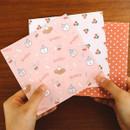 Usage example - Indigo Monologue daily illustration decorative paper set