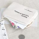 01 Ivory - ICONIC Cottony flat zipper card holder case
