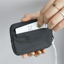 04 Charcoal - CONIC Cottony flat zipper card holder case
