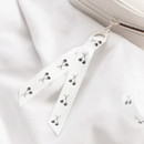 O-ring with a cute cherry ribbon strap - ICONIC Cottony gadget and cable organizer zipper bag pouch