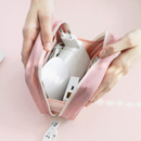 Usage example - ICONIC Cottony gadget and cable organizer zipper bag pouch