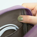 Extra padding layer - ICONIC Cottony gadget and cable organizer zipper bag pouch