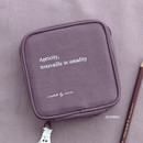 03 purple - ICONIC Cottony gadget and cable organizer zipper bag pouch
