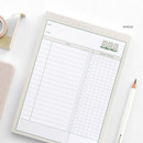 06 Beige - ICONIC Haru dateless daily study planner desk notepad
