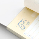100gsm paper - ICONIC Haru dateless daily vocabulary desk pad