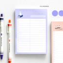 10 Lavender - ICONIC Haru dateless daily vocabulary desk pad