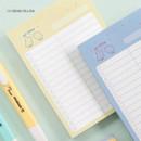 12 Cream Yellow - ICONIC Haru dateless daily vocabulary desk pad