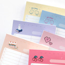 Detail of ICONIC Haru dateless daily vocabulary desk pad