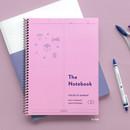 36 Pink - ICONIC Basic mathematics spiral bound grid notebook