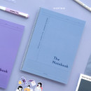 30 Soft Blue - ICONIC Basic Cornell spiral bound lined and grid notebook
