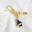 07 Penguin - ICONIC Merry metal keyring key clip key chain