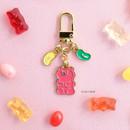 02 Jelly Bean - ICONIC Merry metal keyring key clip key chain