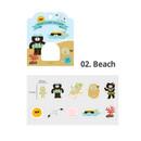 02 beach - ICONIC Nana cute sticker pack
