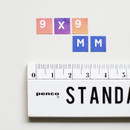 Size - NACOO ABC Alphabet gradation sticker set