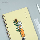 Sun Flower - DESIGN GOMGOM My You Common days wire-bound lined notebook