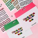 Wanna This Kitsch kitsch Alphabet and Number sticker set