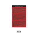 Red - Wanna This Black line Upper case Alphabet sticker
