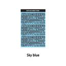 Sky Blue - Wanna This Black line Upper case Alphabet sticker