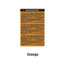 Orange - Wanna This Black line Upper case Alphabet sticker