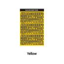Yellow - Wanna This Black line Upper case Alphabet sticker