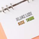 Sticker size - Wanna This Black line Upper case Alphabet sticker