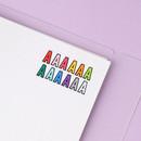 Colors - Wanna This Black line Upper case Alphabet sticker