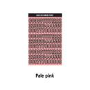 Pale Pink - Wanna This Blackline Number sticker