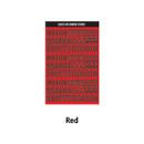 Red - Wanna This Blackline Number sticker