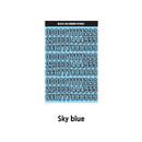 Sky Blue - Wanna This Blackline Number sticker