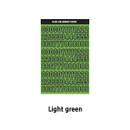 Light Green - Wanna This Blackline Number sticker