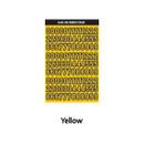 Yellow - Wanna This Blackline Number sticker