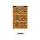 Orange - Wanna This Blackline Number sticker